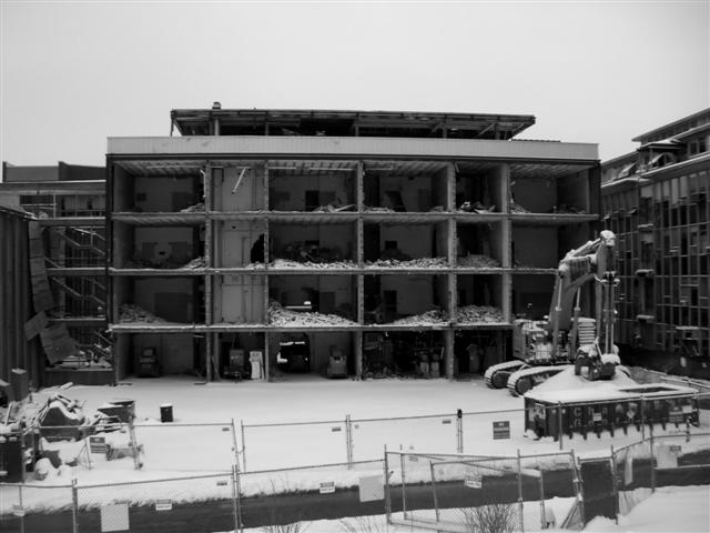 Demolition of the Friedland Life Science Building